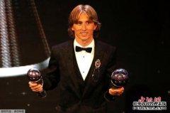莫德里奇当选世界足球先生 打破梅西C罗10年垄断